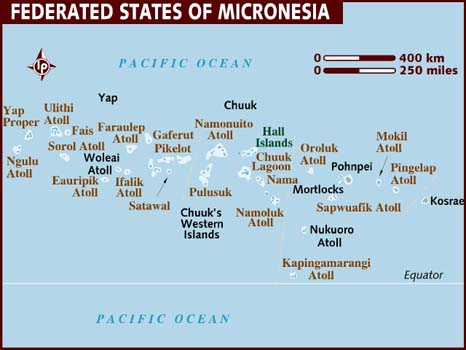 Data Recovery Micronesia map