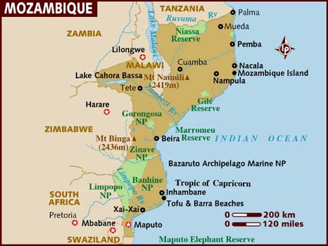 Data Recovery Mozambique Map