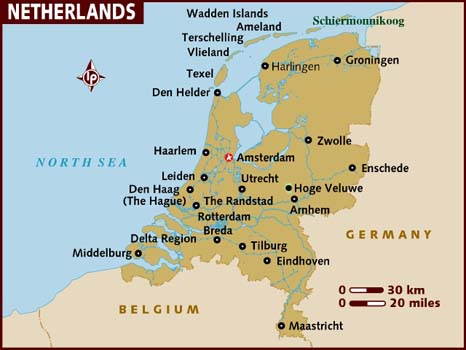 Data Recovery Netherlands Map