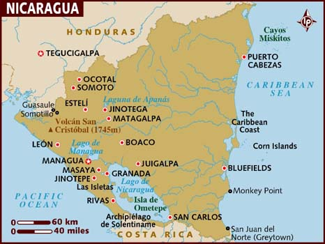 Nicaragua Map-Data Recovery Salon