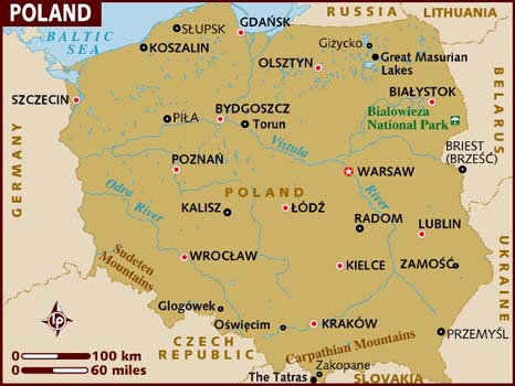 Poland Map-Data Recovery Magazine