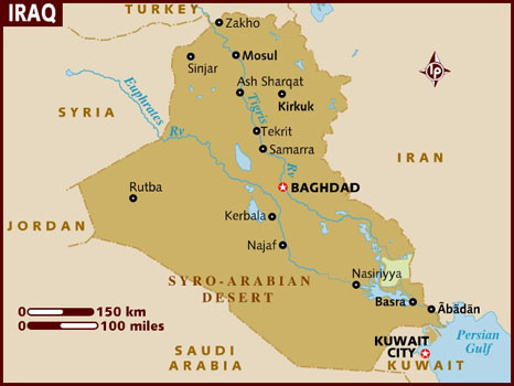 Data Recovery Iraq Map