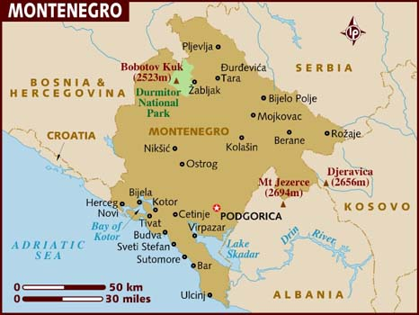 Data Recovery Montenegro map