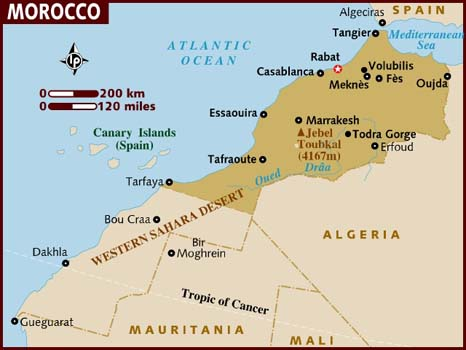 Data Recovery Morocco Map