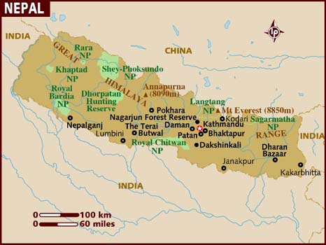 Data Recovery Nepal Map