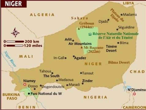 Niger map-Data Recovery Salon