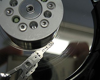 Hard drive platters scratched