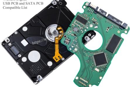 Western Digital USB PCB and SATA PCB Compatible List